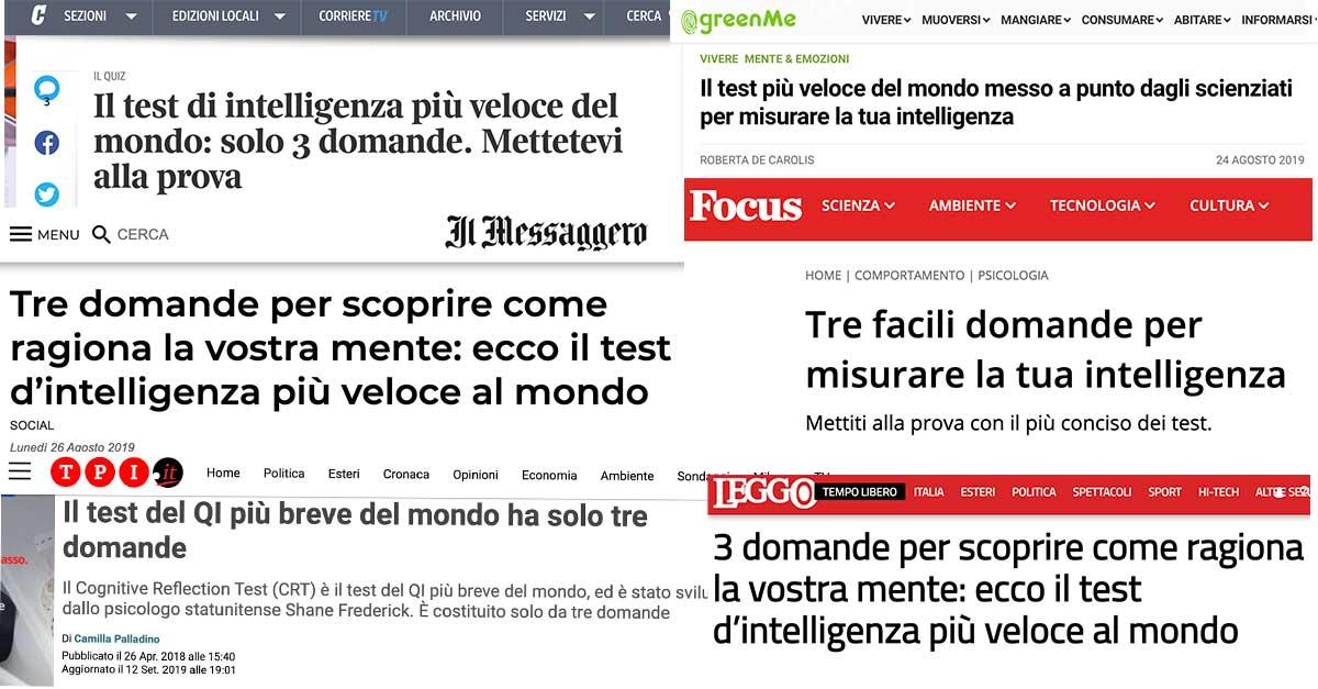 Media e test d'intelligenza